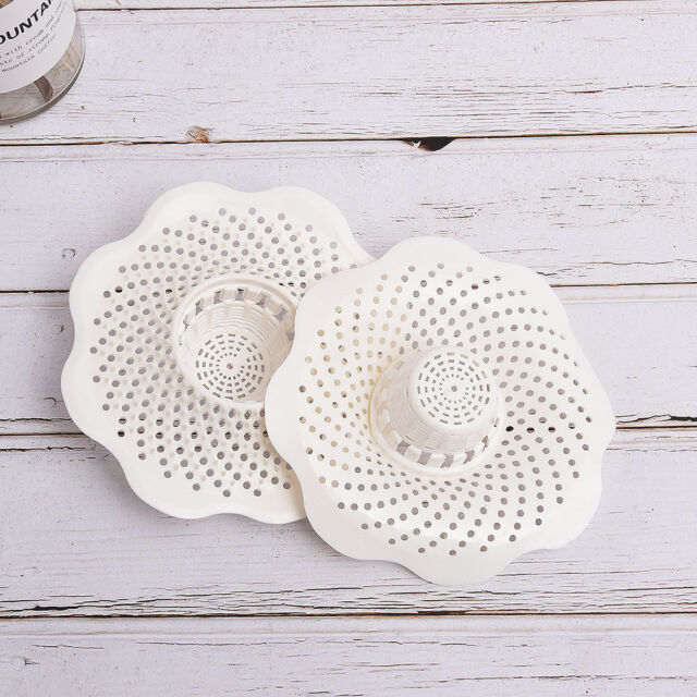Drain Hair Stopper Cover Filter Sink Strainer PVC Bath Kitchen Shower Use NEW
