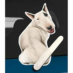Bull Terrier Dog Rear Car Window Sticker + Wagging Tail To Fit On Wiper Arm
