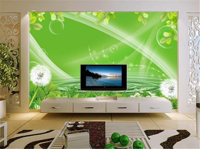 3D Dandelion Grün Lake 734 Wallpaper Mural Paper Wall Print Wallpaper Murals UK