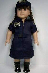"""POLICE Force Costume Uniform Dress Hat Doll Clothes For 18"""" American Girl (Debs)"""
