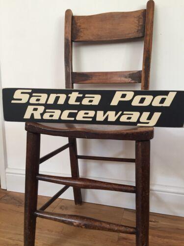 Santa Pod Raceway Sign Dragster Drag Racing Quarter Mile Old Style Gift Hot Rod