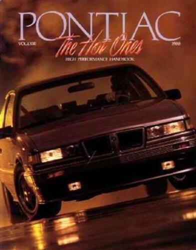 1988 Pontiac Performance Sales Brochure Literature Dealer Advertisement Options