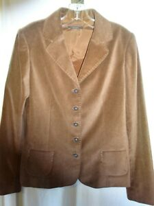 ELIE-TAHARI-Chocolate-Brown-VELVET-Jacket-Blazer-Antique-Button-Ladies-Sz-14