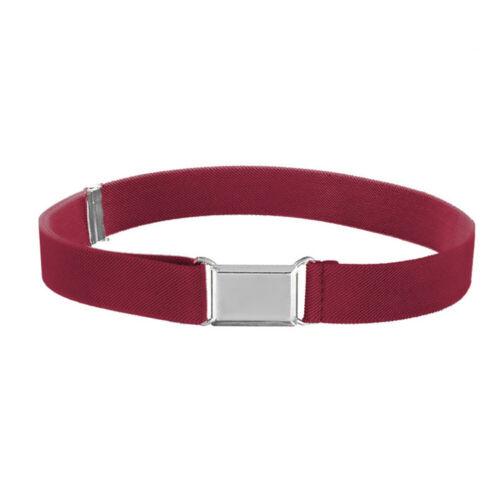 Solid Color Kids Belt Canvas Alloy Buckle Adjustable Fashion Boys Girls Belt Hot