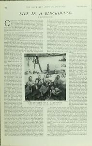 1902-PRINT-LIFE-IN-A-BLOCKHOUSE-INTERIOR-WHERE-MEN-SPENT-HOURS-IN-WAR