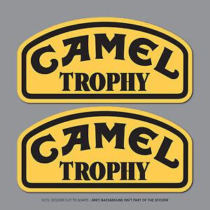 2 X Camel Trophy Jeep 4x4 & Land Rover Decals Stickers - 150 Mm X 73 Mm-sku2473-afficher Le Titre D'origine
