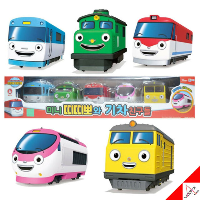 TITIPO with Train Friends - Mini Pull Back 5 Trains Toy Set /Korean TV Animation