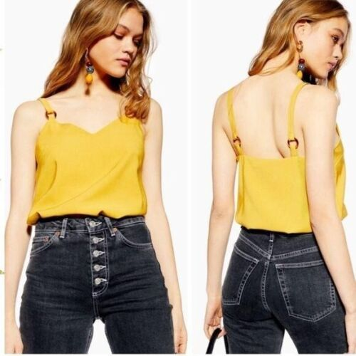 TopShop Tilda Ring camisole yellow  top
