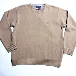 Vintage Sweater  Pullover Sweater  Knit Sweater  Crewneck  Black Beige  XL Extra Large