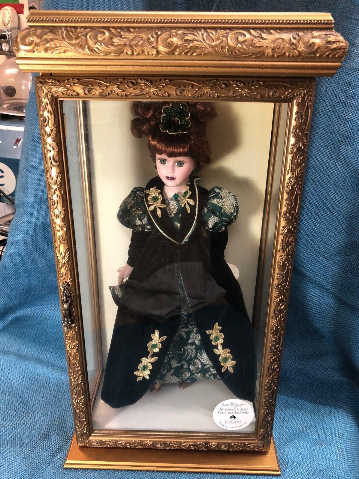 Camellia Garden 16  Porcelain Doll with Swavorski in Case