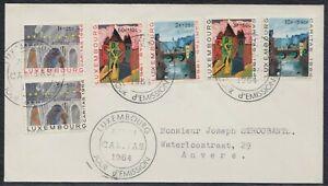 32927) Lussemburgo 1964 Caritas MER. n. 703-708 FDC
