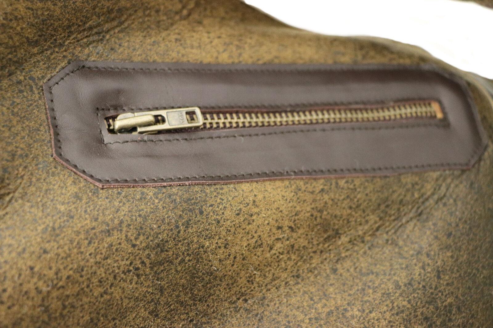 hommes marron veste vintage B3 peau d'agneau AVIATEUR volant veste marron cuir 226269
