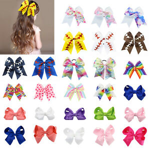 Big-Hair-Bow-Girl-Kid-Bowknot-Hairclip-Satin-Ribbon-Hairpin-Headwear-Accessories