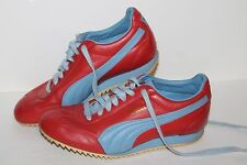 Puma Tahara Casual Sneakers, #400125-03, Red/Lavender, Leather, Men's US Size 6