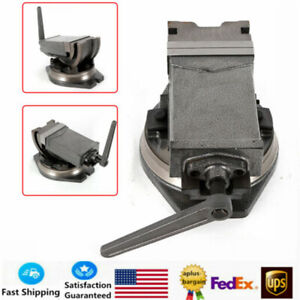 """5"""" Swivel Base /& Angle Tilting 2 Way Clamp Vise Precision Milling Vise Durable"""