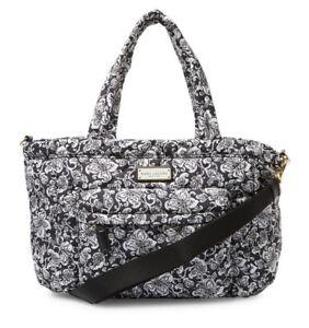 9858e923de Marc Jacobs Tote Bag Eliz A Baby Quilted Floral Black NEW  320