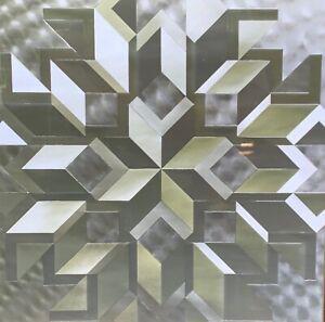 Vintage Geometric Pop Art Foil Etching Wall Hanging Mid Century Modern Art - 2