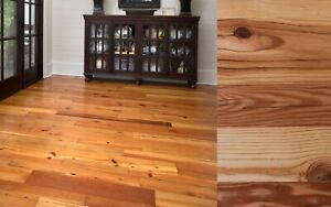 Reclaimed Heart Pine Solid Wood Flooring- 500 sq ft min- $6.50 per square foot
