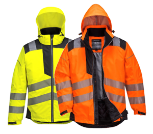 6f8c940aa2b Image is loading Portwest-Vision-Hi-Vis-Viz-Rain-Jacket-Protective-