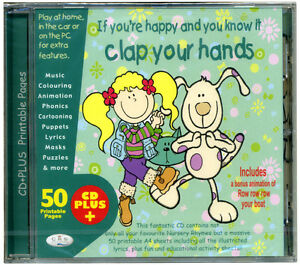 If-you-039-re-happy-amp-you-know-it-CD-of-kids-activity-songs-50-printable-pages-NEW