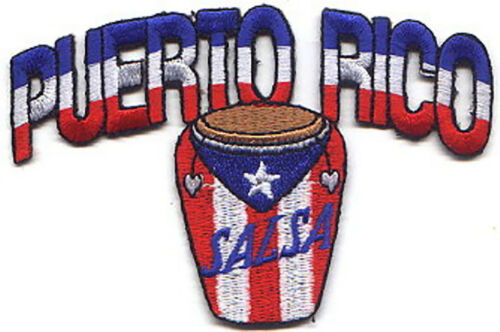 "Drum Arch Embroidered Patches 4.5/""x2.5/"" iron-on 25 Pcs PUERTO RICO"