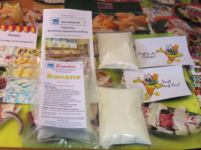 Banane Eispulver für Haushaltseismaschinen, Eis selber machen, Eismaschinen