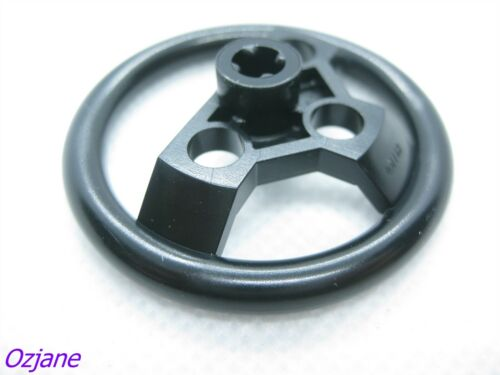 LEGO PART 2741 TECHNIC STEERING WHEEL LARGE BLACK NEW