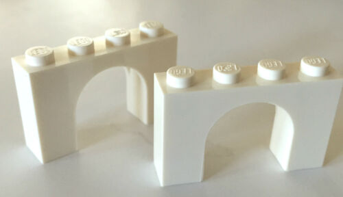 *NEW* 10 Pieces Lego WHITE BRICK ARCH 1x4x2 ARCHES