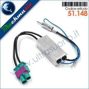 Adattatore-antenna-autoradio-doppio-FAKRA-DIN-per-Volkswagen-Golf-6-5K-09-11