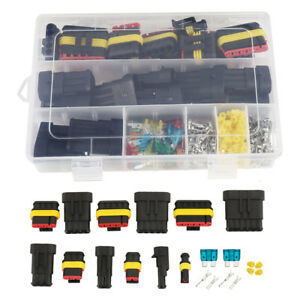 Car Waterproof Electrical Wire Cable Automotive Connector 1-6Pin Way Plug Kit US