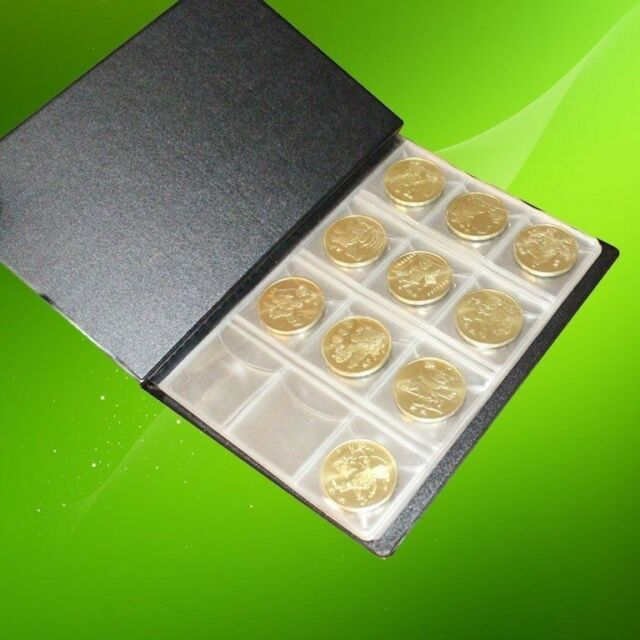 120-Pockets 3x3cm Coins Currency Holders Inserts  Sleeves Collector Pages