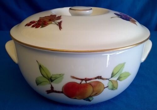 ROYAL WORCESTER EVESHAM GOLD PORCELAIN CASSEROLE OVEN TO TABLE BAKING DISH & ROYAL WORCESTER EVESHAM GOLD PORCELAIN CASSEROLE OVEN TO TABLE ...