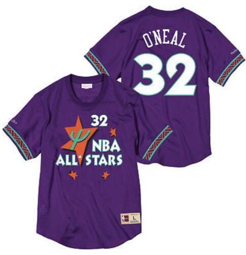 Shaquille O/'Neal 1995 NBA All Star Mitchell /& Ness Men/'s Mesh Crew Neck Jersey
