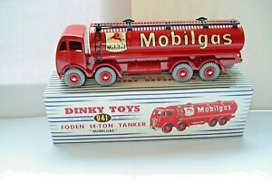 Atlas-Dinky-Supertoy-No-941-Mk2-Foden-Mobilgas-Fuel-Tanker-mint-boxed