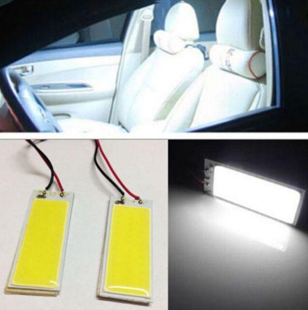 2x Xenon HID White 36 COB LED Dome Map Light Bulb Car Interior Panel Lamp 12V ~