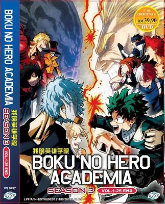 Anime DVD Boku No Hero Academia Season 1 2 Vol 1-38 End Eng Dub