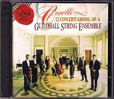 CORELLI 12 Concerti Grossi Op.6 GUILDHALL STRING ENSEMBL RCA 2CD Robert Salter