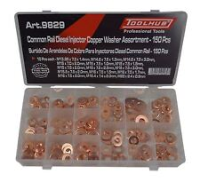 Tool Hub 9829 Diesel Injector Washer Set 150 Piece Copper Seals Common Rail