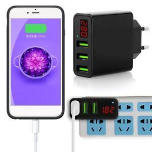 3-Port USB 5V Ladegerät Telefon Wand.Ladegerät  mit DigitalanzeigeEUPLUG~