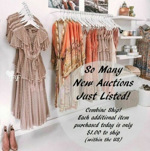 S New Boho Floral Long Sleeve Vtg 70s Insp Pink Festival Dress Womens SMALL