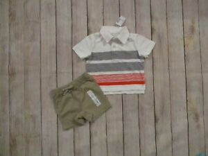 Baby-Boys-2-Piece-Summer-Polo-Top-Shorts-Outfit-Size-12-18-Months-Set-Lot-NEW
