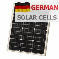 40W 12V solar panel with 5m cable for camper / caravan / boat 40 watt module