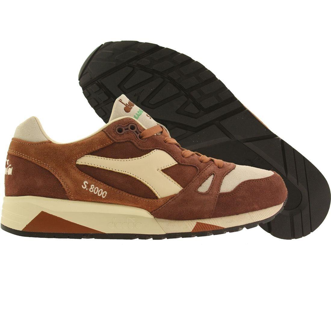 0.00 Diadora uomo S8000 S Ita brown mushroom 16166130026 Scarpe classiche da uomo