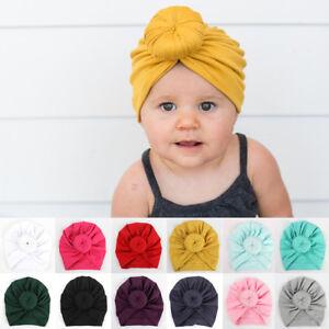 309fbb3df Cute Newborn Toddler Kids Baby Boy Girl Indian Turban Knot Cotton ...