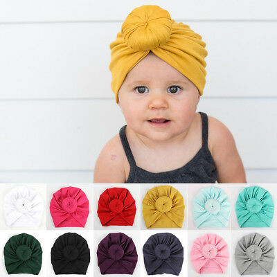 Tiean Baby Turban Cap Mint Green Toddler Boy Girl India Hat Lovely Soft Hat