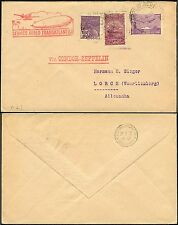 64/Zeppelin Brasilien Brazil 1932 1. Südamerikafahrt MiF Brief LZ 127 Si 139 A