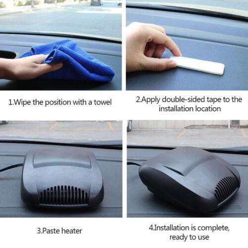 12V Car Portable Ceramic Heating Cooling Heater Fan Defroster Demister Mist