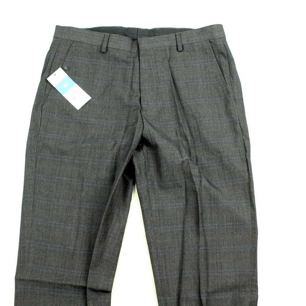 Adaptable Burton Menswear Slim Taille 30 Pantalon Stoffhose Gris A4601 Marchandises De Proximité