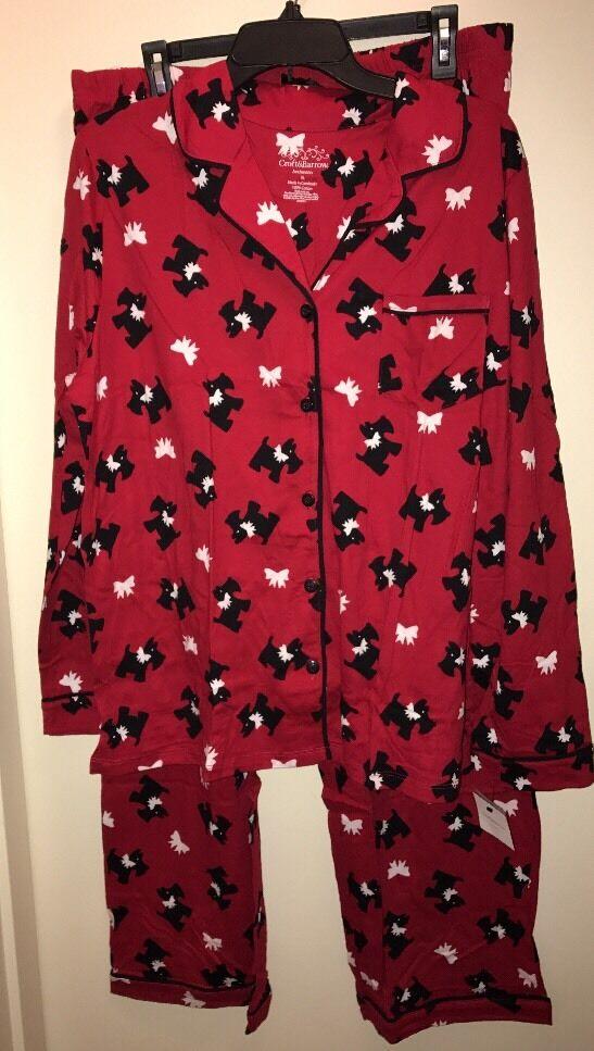 CROFT & BARROW Women's 2-Piece Notch Collar Pajama Set