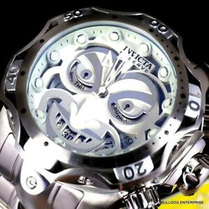 Invicta Reserve Venom DC Comics Joker Silver-Tone Steel 52mm Swiss Mvt Watch New